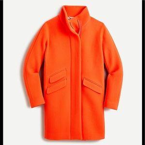 J Crew Petite Cocoon Coat Italian Stadium Wool
